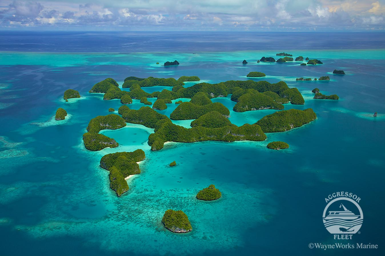 aerial view of palau islands