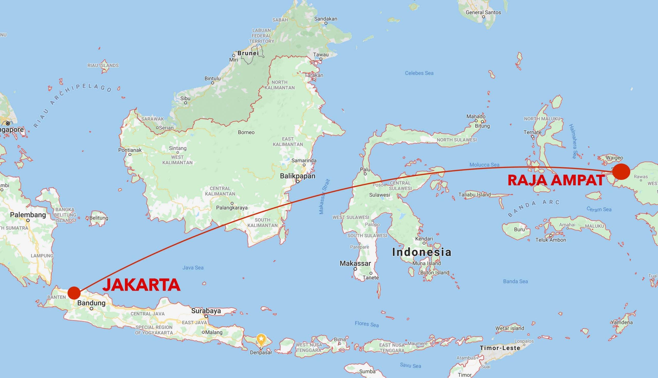 Misool snorkel safari map