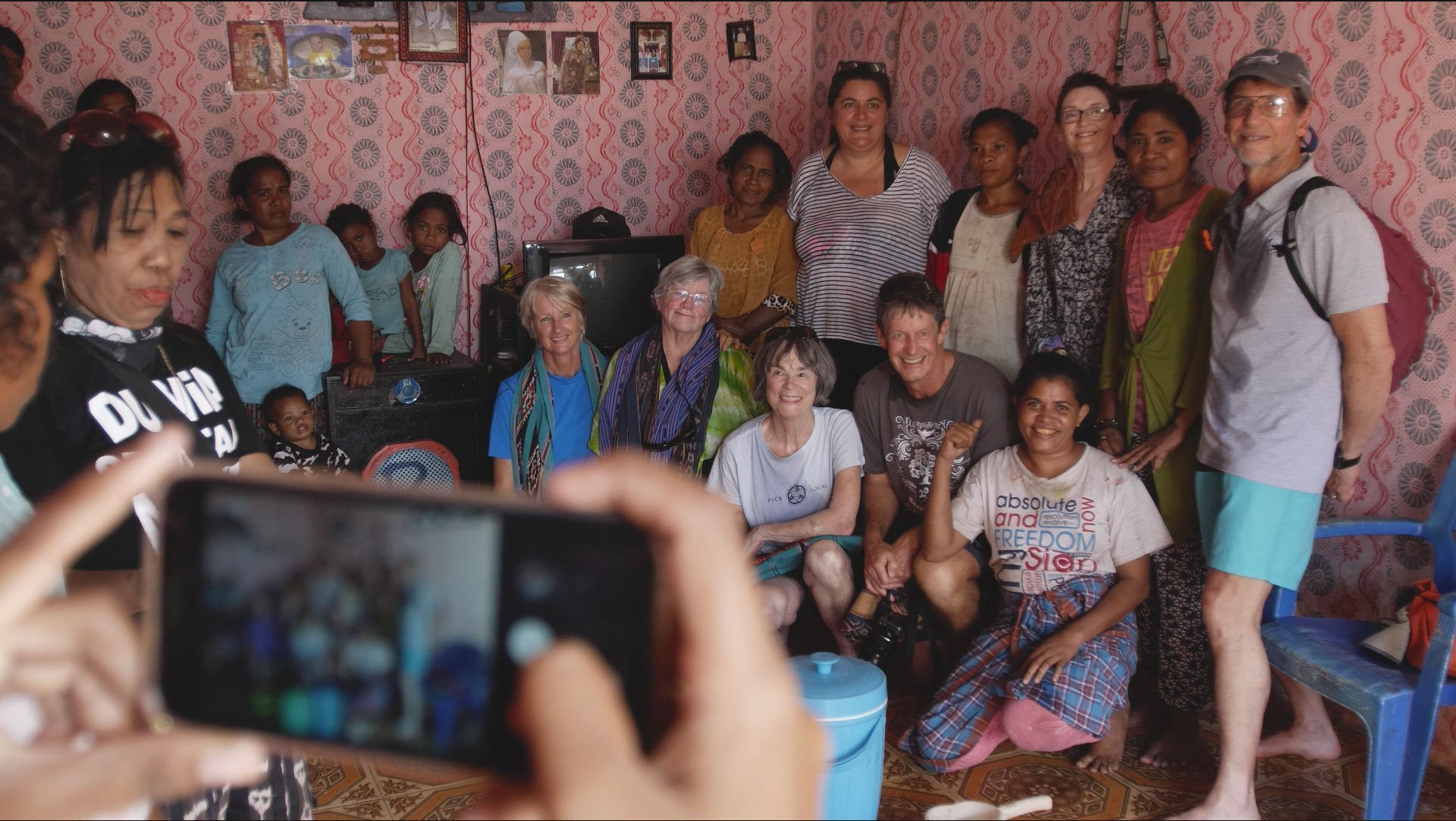Snorkel Venture guest group photo in Alor village