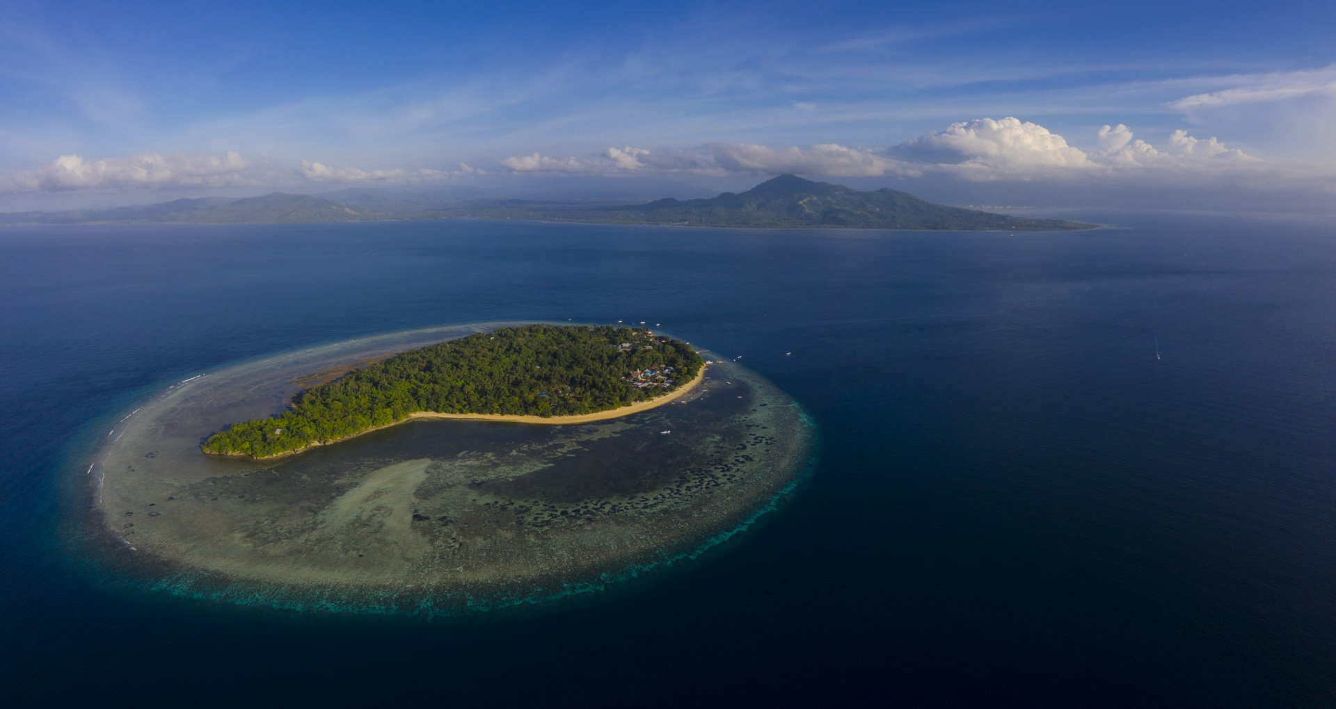 Aerial view of Siladen Island