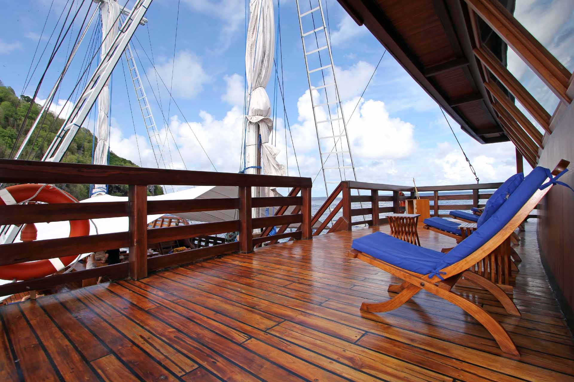 View of Amira Liveaboard from the top deck