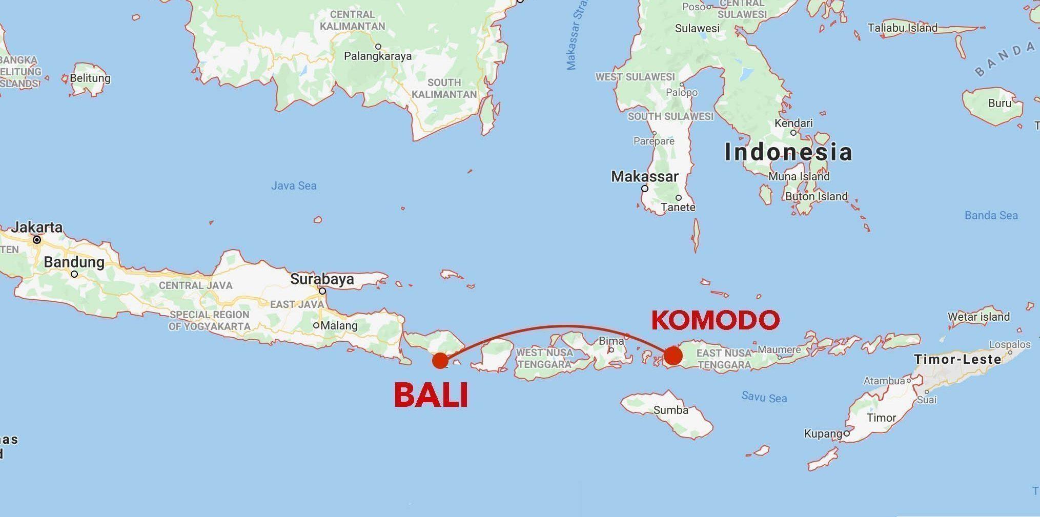 Komodo snorkel safari itinerary