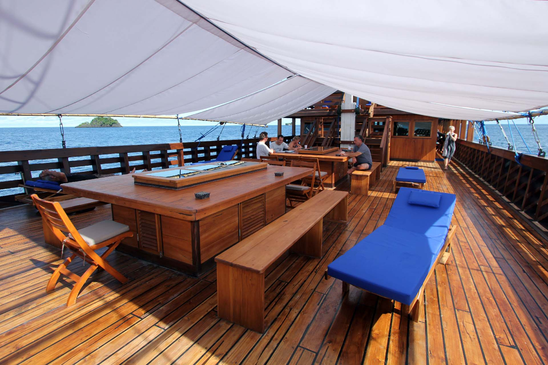 View of Amira Liveaboard from the dining room