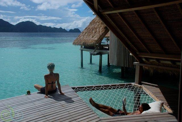 balcony at misool resort