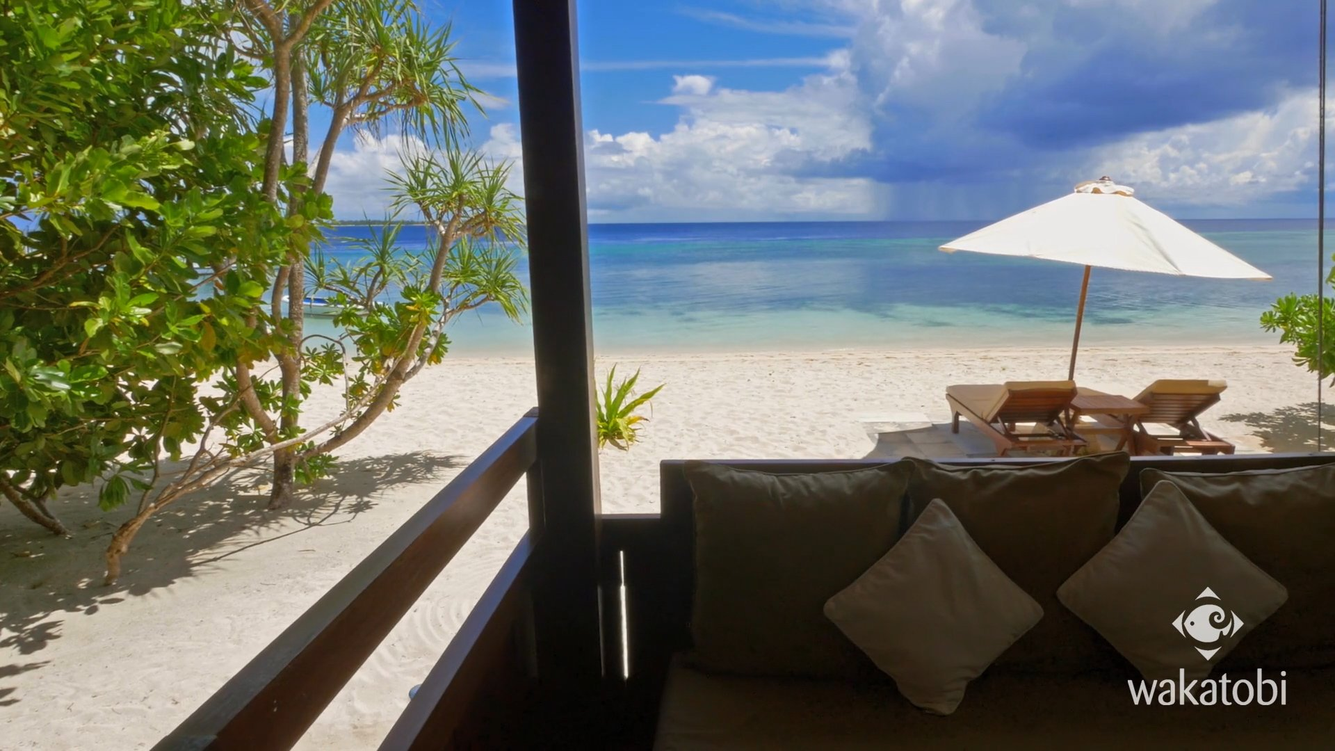 view from wakatobi bungalows
