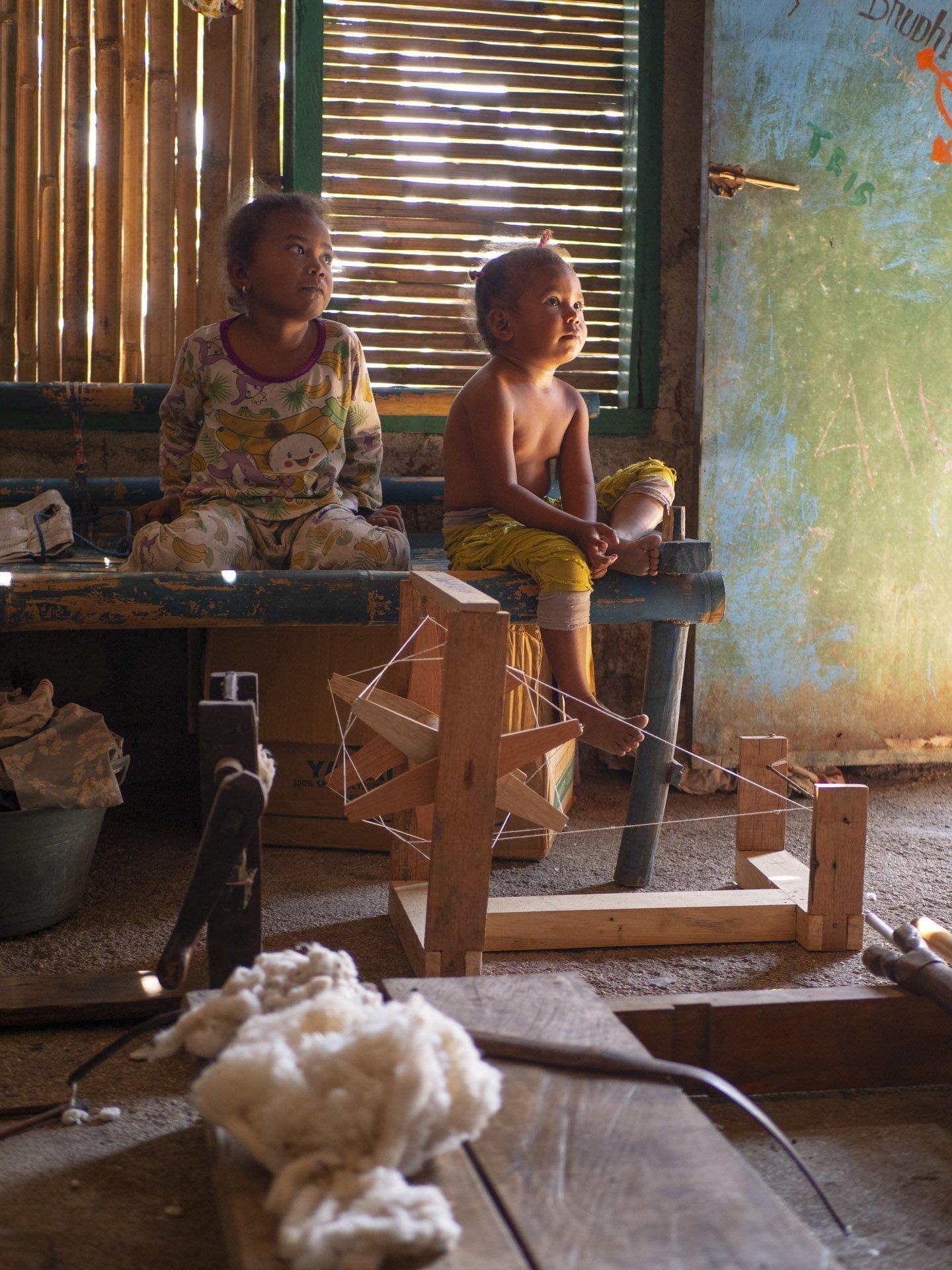 Local children in Alor