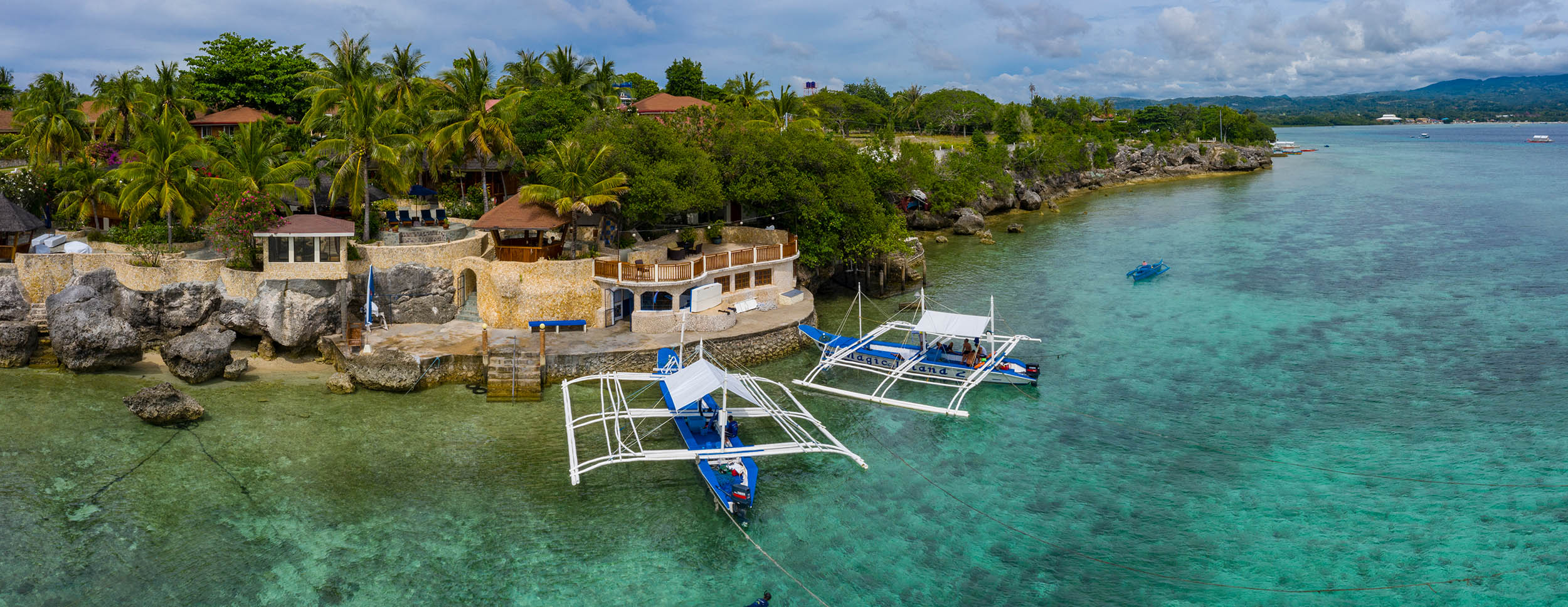 Aerial panorama of Magic Island Resort