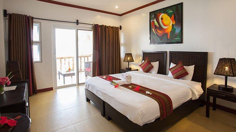 Interior view of Pura Vida Resort's rooms