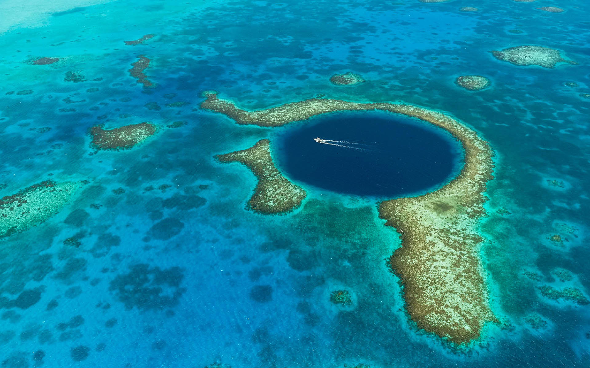 Blue hole aerial