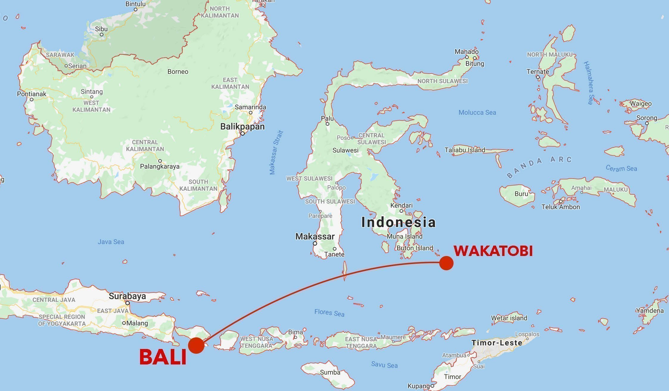 Wakatobi Snorkel Safari Map